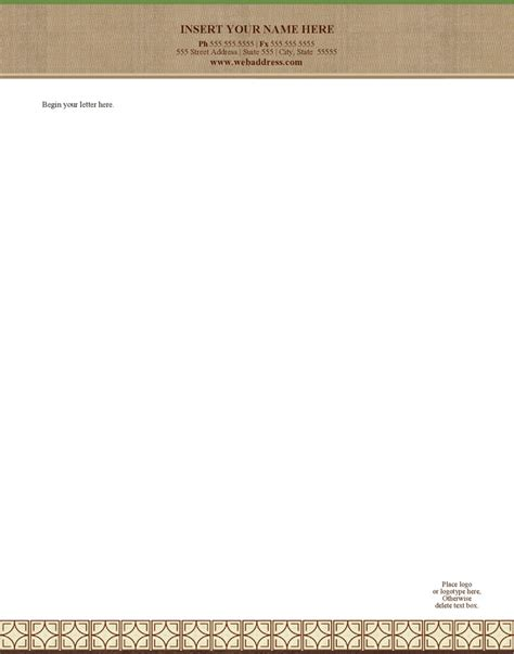 legal letterhead template download free premium