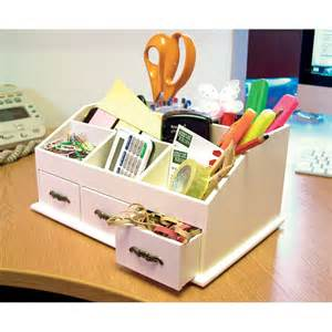 wooden desk tidy caddy with three drawers and 7