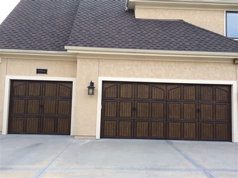 Arage Door Decorative Hardware Installation - garage door with decorative hinges coastal bronze