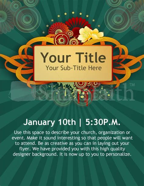 New Year Church Event Flyer Templates Template Flyer Templates Event Poster Templates Free
