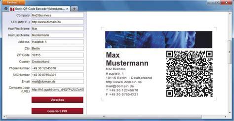Visitenkarten Mit Qr Code Drucken by Visitenkarten Mit Qr Code Professional