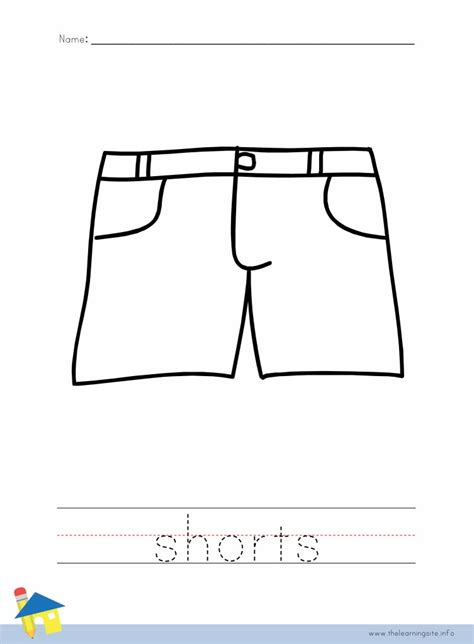 clothes coloring pages pdf the learning site