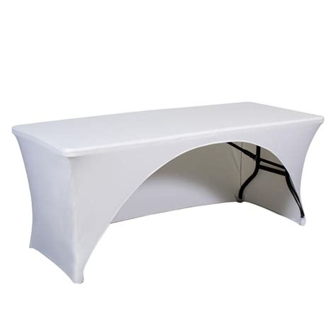 6ft spandex table cover 6 trade show stretch printed