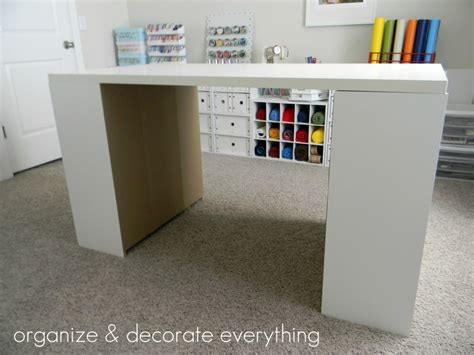 Make Your Own Diy Craft Table Using Inexpensive Pieces Diy Craft Desk With Storage