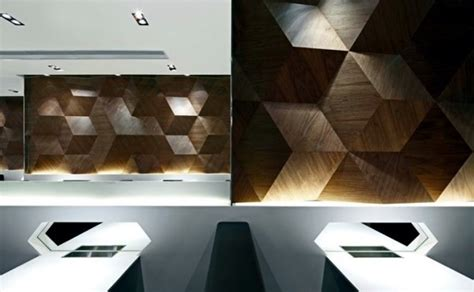 Shape Interior Design by Geometric Shapes Embossing A Modern Restaurant Design