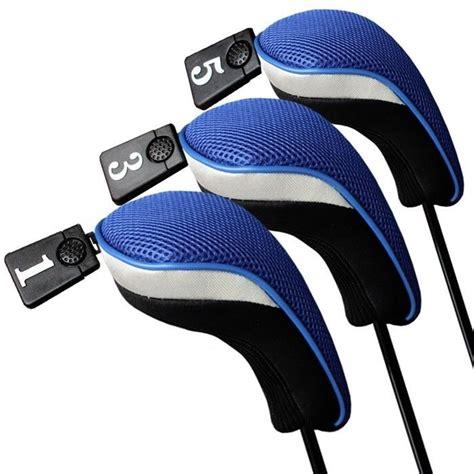 Popok Luris Clb 3pcs 1 aliexpress buy 3pcs soft 1 3 5 wood golf club driver headcovers covers set blue black