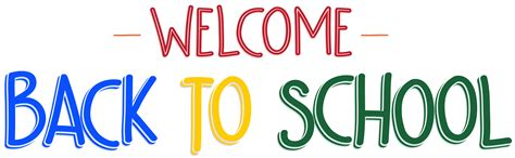 back to school clipart welcome back to school png clip art image