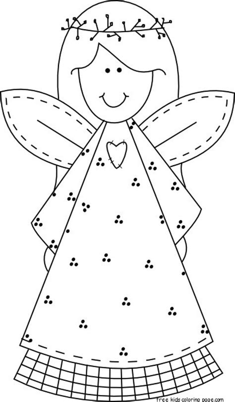printable christmas tree angel printable christmas smile face angel coloring pages for
