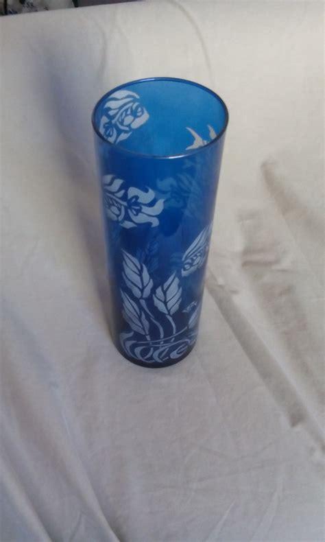 Goldfish In Vase Aquarium Vase Blue Glass Fancy Goldfish Ooak 183 Whyte