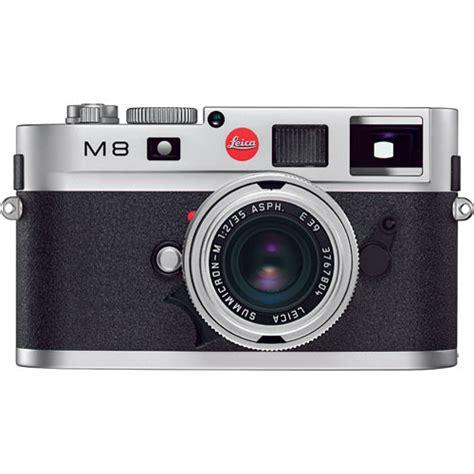 leica m8 leica m8 rangefinder digital silver chrome 10702