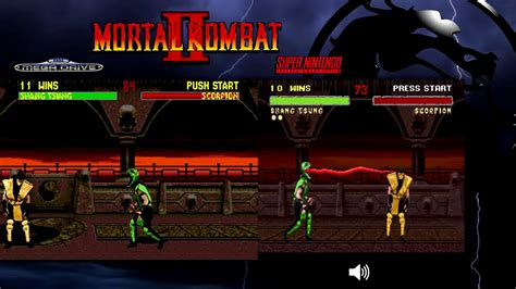 mortal kombat 2 sega genesis mortal kombat ii mega drive genesis snes comparison