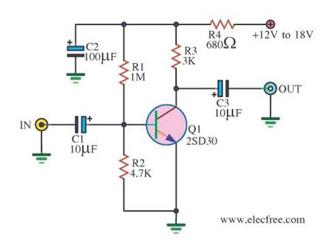 transistor guitar lifier circuit simple prelifier circuits by transistors c1815 circuit diagram world
