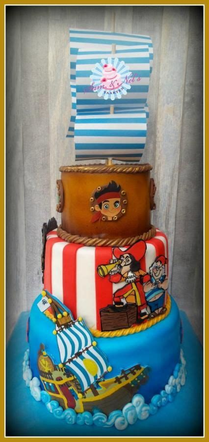 Jake and the neverland pirates cake by Sam & Nel's Taarten