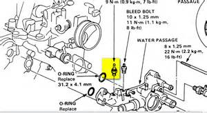 89 acura trying to replace the coolant temperature sensor