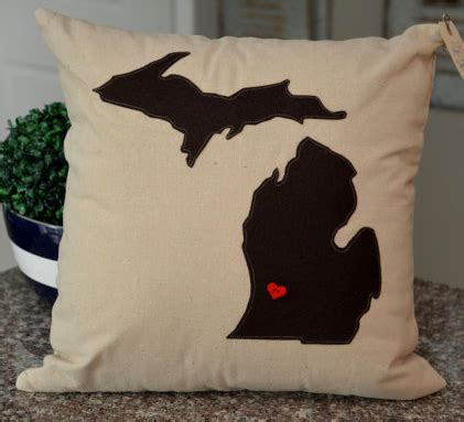 Darkness Darkness Be Pillow by Solid Color Michigan Pillows Home Sweet Michigan