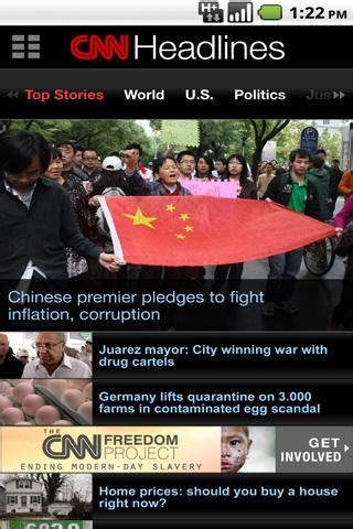 cnn app for android cnn news app available for android android news android apps