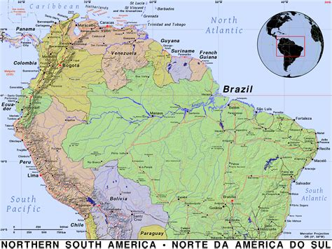 map of usa and south america northern south america 183 domain maps by pat the