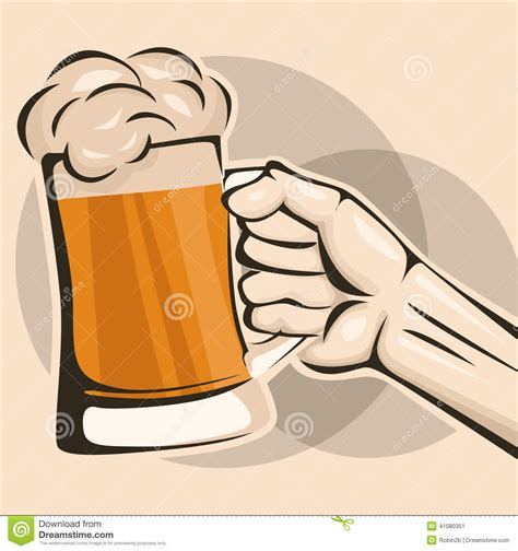 cartoon beer no background hand hold a mug of beer stock vector image of thumbs