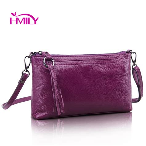Mini Clutch Webbing Leather hmily new genuine cow leather messenger bag