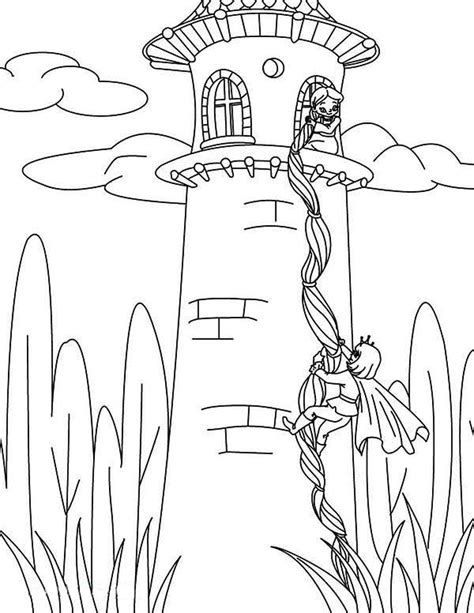 Coloring Page Rapunzel Tower | rapunzel coloring pages best coloring pages for kids