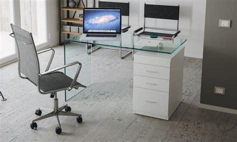 scrivania in vetro curvato scrivania b desk in vetro curvato groupon goods