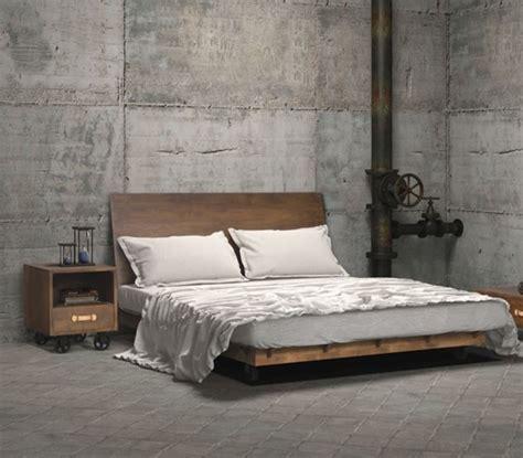 Dutch Queen Platform Bed Frame Industrial Bed