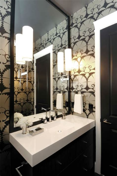 Interior Atmosphere by Prairie Perch Powder Rooms That Pack A Punch