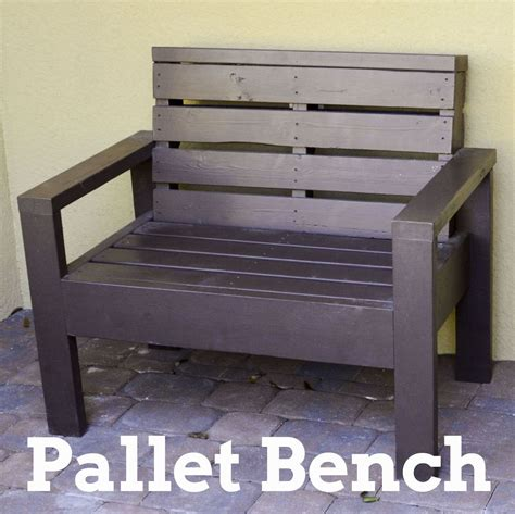 how to make a pallet bench hometalk pallet bench