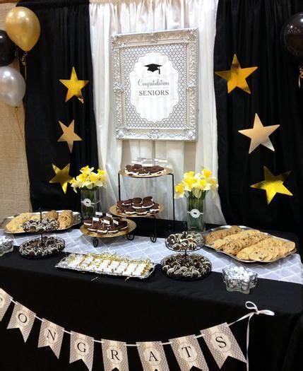Black Gold Silver Decorations by Para Una Graduaci 243 N Muy Elegante Decora Con Negro Oro Y Plata For An
