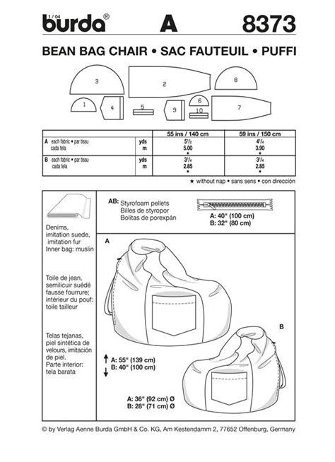 diy teardrop bean bag chair burda bean bag pattern 8373 dw sewing
