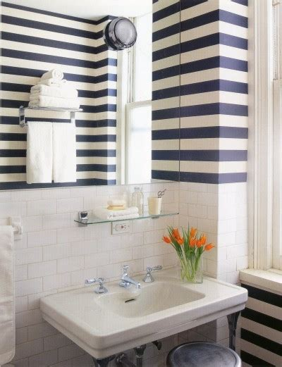 striped wallpaper for bathrooms until next week wallpaper in the bath the perfect bath