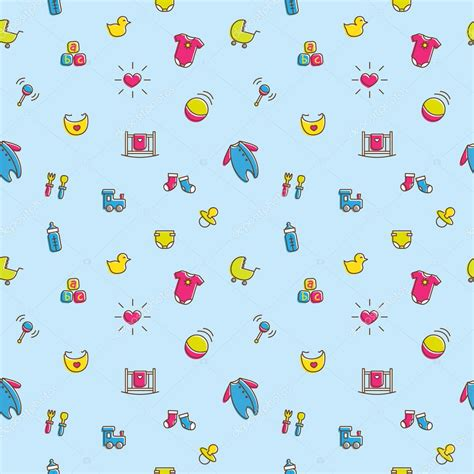 wallpaper cartoon baby boy vector colorful baby and pregnancy seamless pattern in