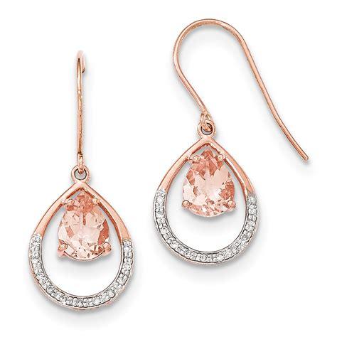Hook Earrings 14k gold morganite and shepherd hook earrings