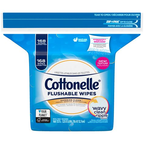 Fresh Care cottonelle fresh care flushable cleansing cloths refills