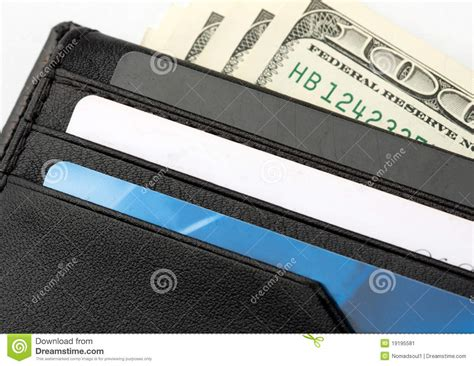 Gift Card With Money - wallet with cards and money stock image image 19195581