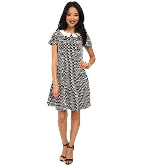 Wst 5510 Geo Dress Color Size M yumi monochrome collared dress w geo jacquared texture