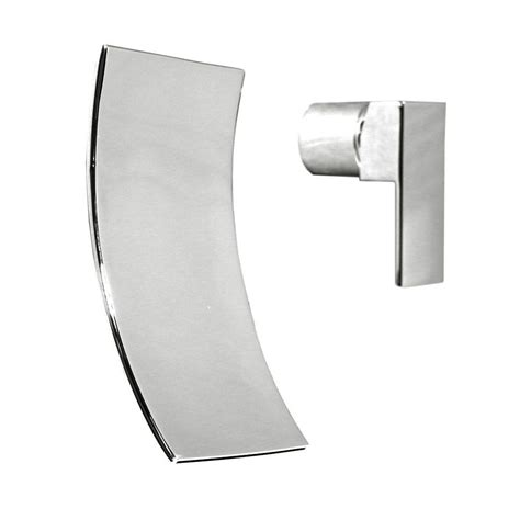 kokols 1 handle wall mount bathroom faucet in brushed nickel 86h08bn the home depot kokols accent single handle wall mount bathroom faucet in