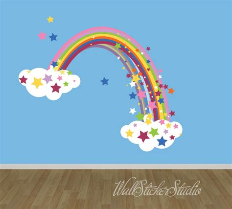 wall stickers rainbow rainbow wall decal reusable fabric decal rainbow with