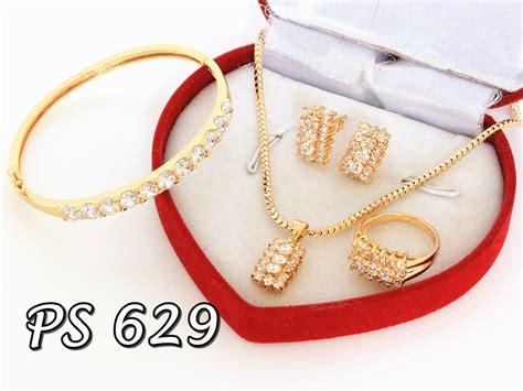 Set Xuping Big Channel perhiasan set emas putih pusat perhiasan set