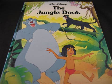 walt disneys the jungle 0394825608 items similar to walt disney quot the jungle book quot 1990 gallery books on etsy