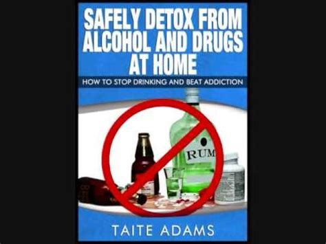safely detox from and drugs at home how to stop