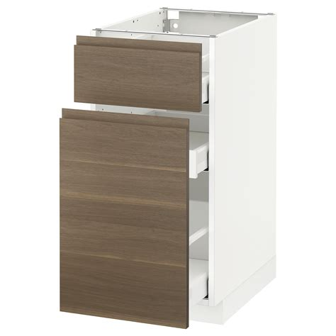 Ikea White Storage Cabinet Metod Maximera Base Cabinet P Out Storage Drawer White Voxtorp Walnut 40x60 Cm Ikea
