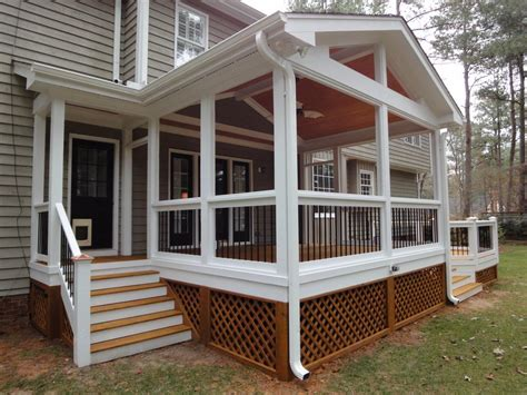 screened porch planning ideas good porch deck screening steps for