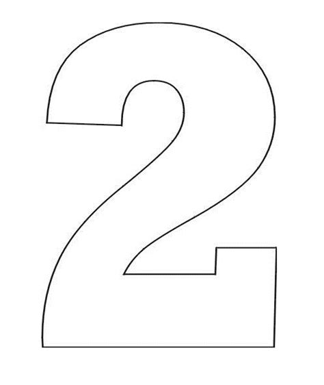 numbers color free coloring pages 2