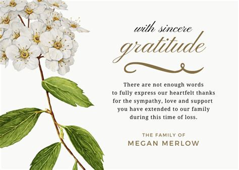 bereavement   note message bereavement card gift