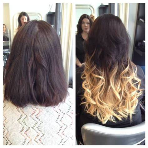 18 inch hair extensions before and after before and after 18 inch fusion ombre hair extensions yelp