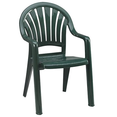 Resin Stacking Chairs Outdoor by Grosfillex Us092078 Pacific Fanback Outdoor Armchair