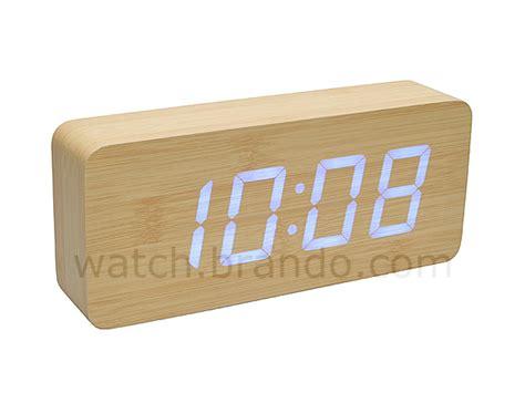 Jam Alarm Led Wood wooden led alarm clock oak