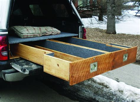 truck bed drawer trout bum truck drawers outside bozeman
