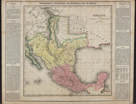 humboldt texas map mexico and provinces prepared from humboldt s map other documents by j finlayson